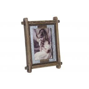 PHOTO FRAME PAULOWNIA GLASS 13X18