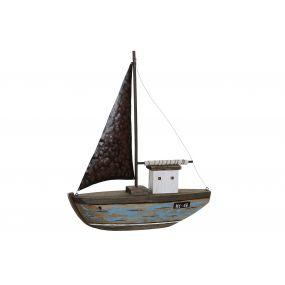 FIGURE PAULOWNIA METAL 39X8,5X46 SHIP