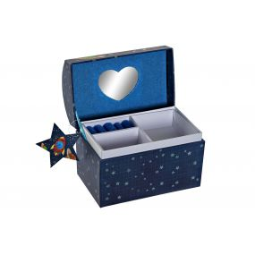 BOX PAPERBOARD MIRROR 16,5X10,3X13,5 COSMOS BLUE