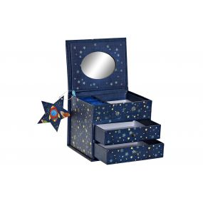 JEWELER PAPERBOARD MIRROR 13X10X10,2 COSMOS BLUE
