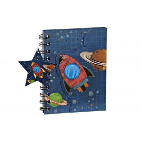 NOTEBOOK PAPERBOARD 12X1,5X14,5 COSMOS 3 MOD.