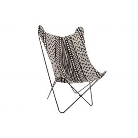 ARMCHAIR POLYESTER METAL 71X77X100 AFRICAN NATURAL