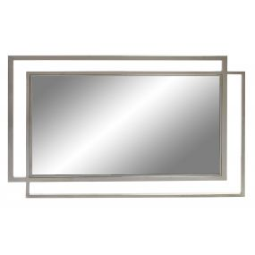 MIRROR GLASS STEEL 130X2X90 CHROMED TRANSPARENT