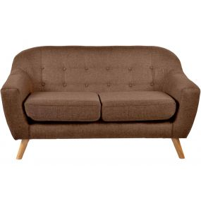COUCH POLYESTER WOOD 147X82X82 149 2 SEATS