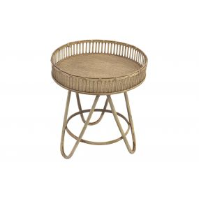 AUXILIARY TABLE RATTAN BAMBOO 52X59 NATURAL