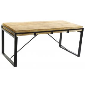 AUXILIARY TABLE SPRUCE METAL 122X60X54 NATURAL