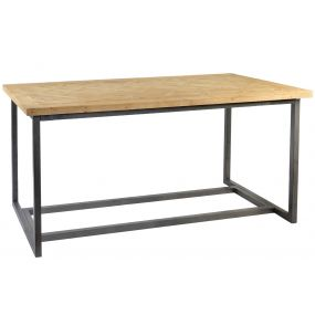 TABLE SPRUCE WOOD 190X90X85 NATURAL BROWN