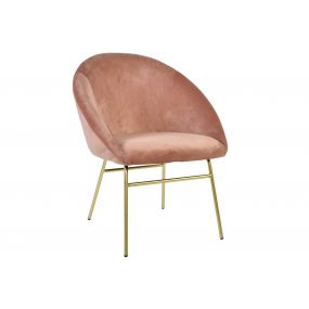 CHAIR POLYESTER METAL 64X64X77 PALE PINK