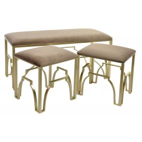 SHOE-REMOVING CHAIR SET 3 POLYESTER 101X41X52