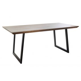 TABLE MDF METAL 180X90X76 BROWN