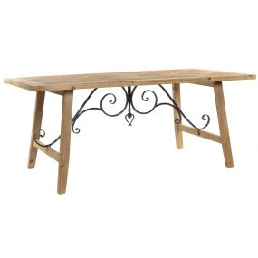 TABLE SPRUCE METAL 180X90X75