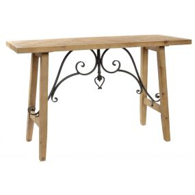 CONSOLE TABLE SPRUCE METAL 119X45X75