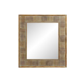 MIRROR SPRUCE GLASS 91X3X101 NATURAL BROWN