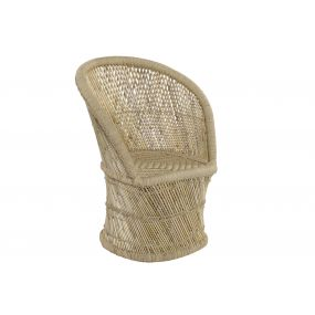 ARMCHAIR BAMBOO ROPE 68X60X93 NATURAL