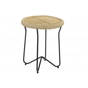 AUXILIARY TABLE ROPE METAL 48X48X57 NATURAL