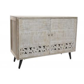 BUFFET MANGO MDF 109X41,5X81,5 CARVED WHITE