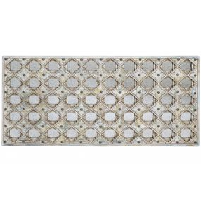 WALL DECORATION MDF GLASS 123X4X63 AGED WHITE