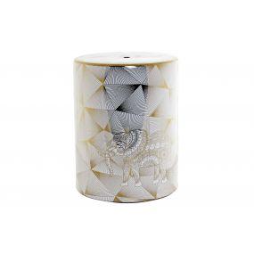 AUXILIARY TABLE PORCELAIN 33,5X33,5X43 ELEPHANT