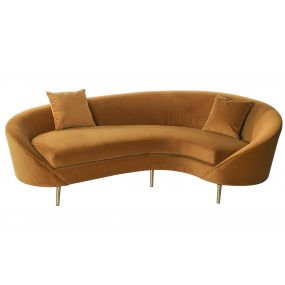 COUCH POLYESTER METAL 252X130X83 2 CUSHIONS VELVET