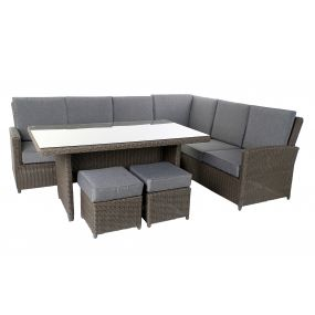 COUCH SET 4 SYNTHETIC RATTAN 192X145X85 GARDEN