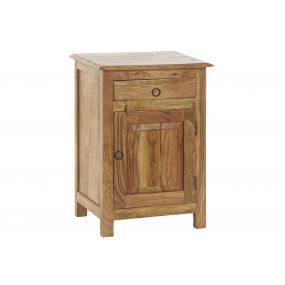 BEDSIDE TABLE SOLID WOOD ACACIA 45X31X65 12