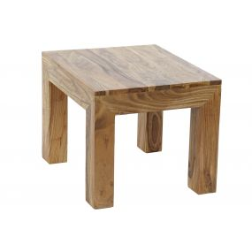 AUXILIARY TABLE SOLID WOOD ACACIA 45X45X40 90