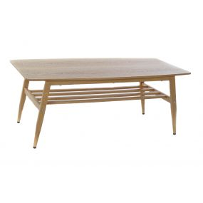 MESA CAFE MADERA METAL 120X60X48 MARRON