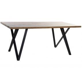 TABLE MDF METAL 180X90X76 BROWN