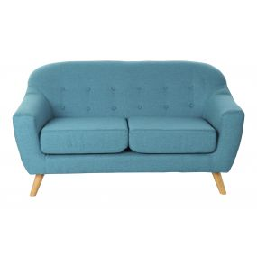 COUCH POLYESTER WOOD 146X84X82 147 2 SEATS