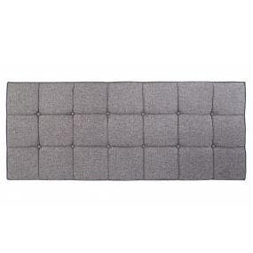BED HEADER POLYESTER WOOD 160X7X120 GREY