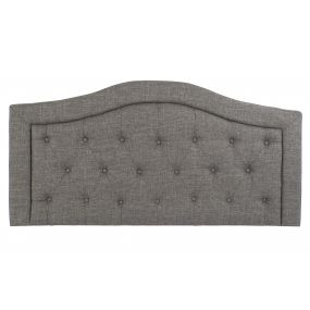 BED HEADER POLYESTER WOOD 146X7X74 CAPITONE GREY