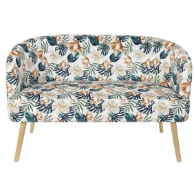 COUCH POLYESTER BIRCH 129X70X80 LEAVES