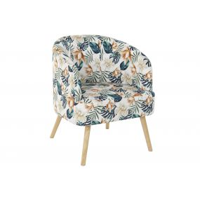 ARMCHAIR POLYESTER BIRCH 70X68X55 LEAVES