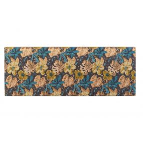 BED HEADER POLYESTER WOOD 160X10X60 LEAVES