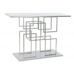 CONSOLE TABLE METAL MIRROR 120X40X81,5 SILVER