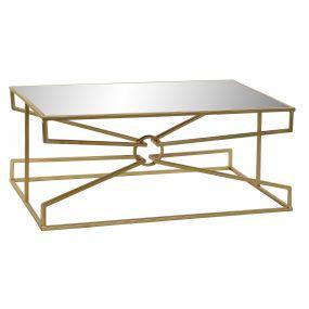 COFFEE TABLE METAL MIRROR 110X60X45,5 GOLDEN
