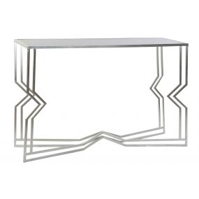 CONSOLE TABLE METAL MIRROR 120X40X80 SILVER