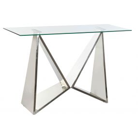 CONSOLE TABLE STEEL GLASS 120X40X78 CHROMED