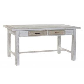 TABLE WOOD IRON 160X80X76 WHITE