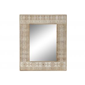 MIRROR WOOD 79X4X100 AFRICAN BROWN