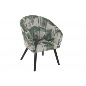 ARMCHAIR POLYESTER 62X63X79 LEAVES GREEN