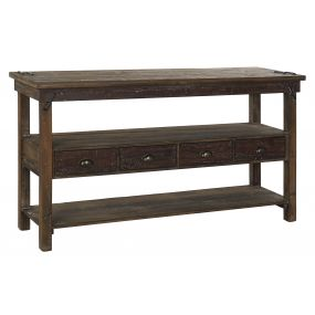 CONSOLE TABLE RECICLED WOOD METAL 150X45X82