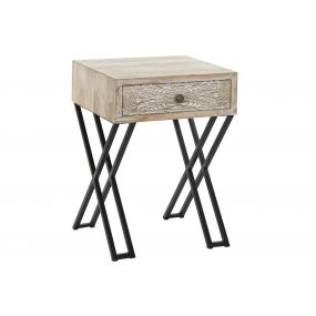 AUXILIARY TABLE METAL SPRUCE 45X37X62