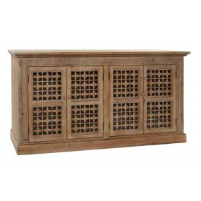 BUFFET SPRUCE 160X38X80 CARVED NATURAL BROWN