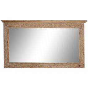 MIRROR SPRUCE 155X5X90 CARVED NATURAL BROWN