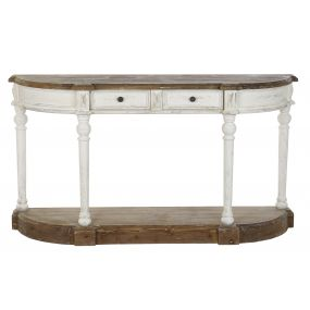 CONSOLE TABLE SPRUCE 157X40X86,5 AGED WHITE