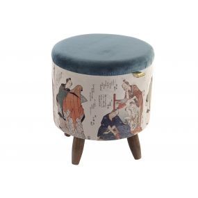 FOOTREST POLYESTER WOOD 40X40X42 3,33 JAPANESE