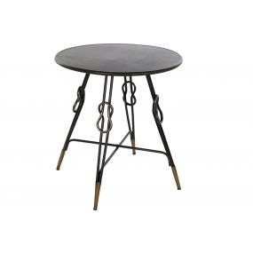 AUXILIARY TABLE METAL 70X70X75 KNOT AGED BLACK