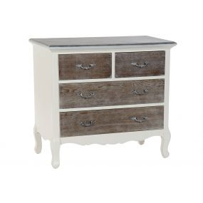 CHEST OF DRAWERS WOOD 80X35X75 BEIGE