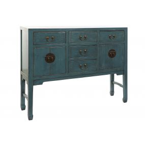 BUFFET ELM METAL 137X35X107 LACQUERED TURQUOISE
